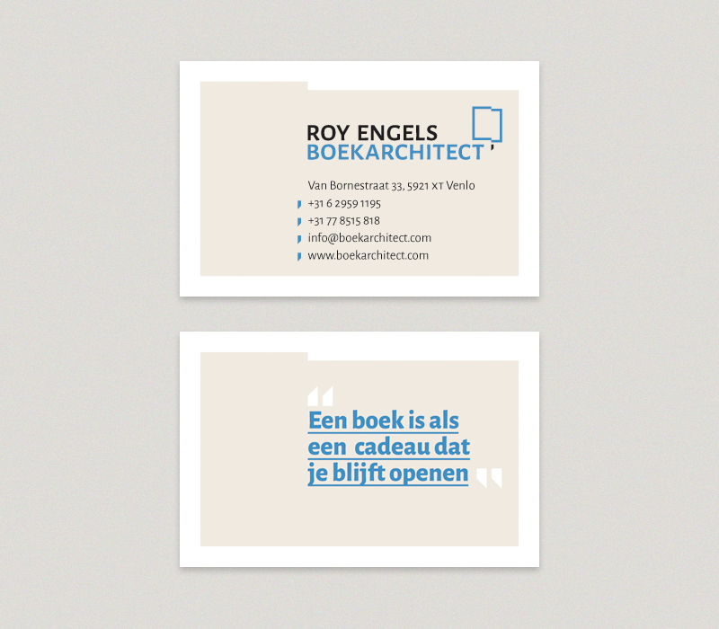 Roy Engels – Boekarchitect